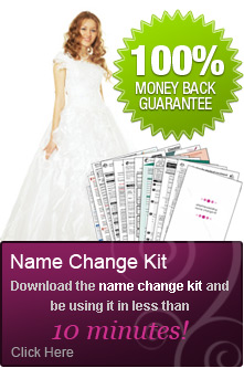 marriage name change kit