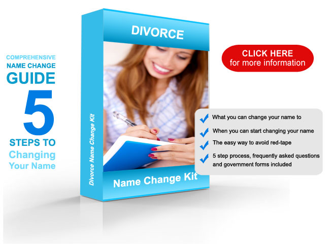 divorce name change kit click here